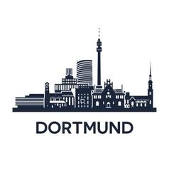 Dortmund Skyline Emblem vector image vector image