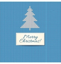 Merry Christmas Scandinavian style knitted card vector image vector image