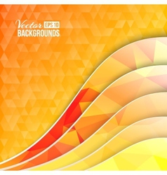 Orange triangles and waves vector