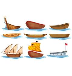 Boat set vector image