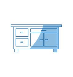 desk furniture work office image vector image