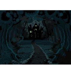 Halloween forest vector