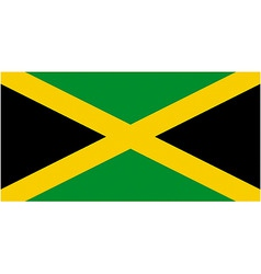 jamaican flag vector image vector image