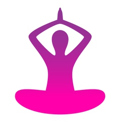 Woman yoga silhouette isolated on white vector image vector image