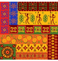 Abstract african ethnic patterns vector