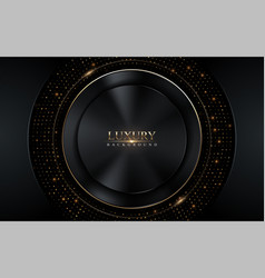 Abstract dark luxury with gold glowing lines vector