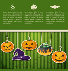 abstract halloween holiday greeting poster vector image