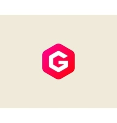 Abstract letter G logo design template Colorful vector