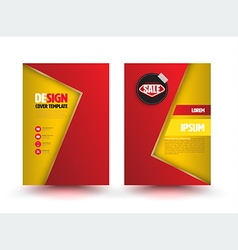 Abstract modern flyer brochure design templates vector image
