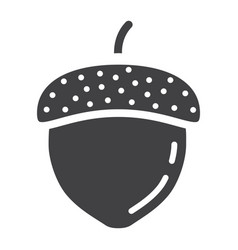 acorn solid icon nut and food graphics vector image