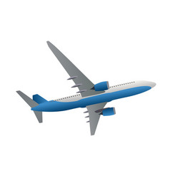 Airliner icon side view from bottom vector