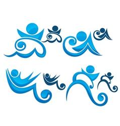 aqua park symbols vector image