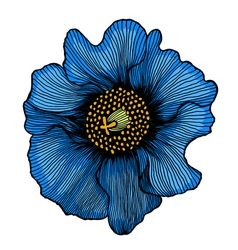 Beautiful blue flower vector
