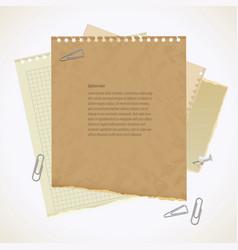 Blank worksheet exercise book vector