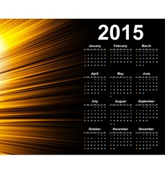 Calendar 2015 year template with abstract vector image