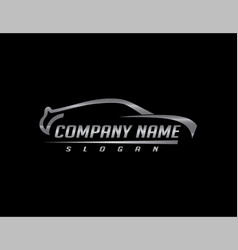car logo 2 black background vector image