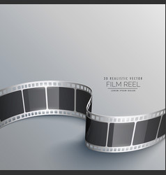 cinema background with 3d film strip vector image