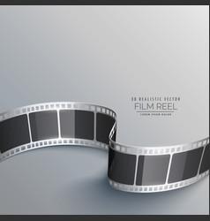 Cinema background with 3d film strip vector