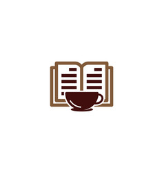coffee book logo icon design vector image