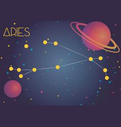 Constellation aries vector