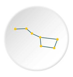 constellation icon circle vector image