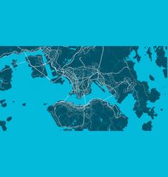 Detailed map hong kong city linear print map vector