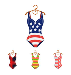 different kinds of swimsuits swimsuits set vector image