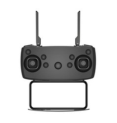 drone remote control with smartphone vector image