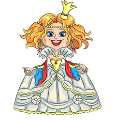 Fairytale cartoon funny smiling princes vector