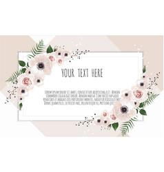 Floral design card greeting postcard vector