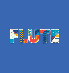 Flute concept word art vector