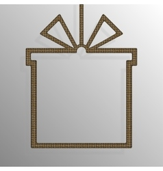 Frame Gold Sequins Gift Box Gift Surprise vector