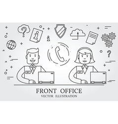 Front office Think line icon vector