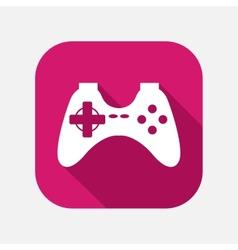 game joystick icon vector image