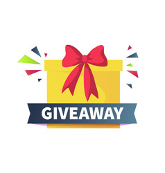 Giveaway poster give presents concept cartoon vector