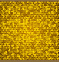 gold bright triangle mosaic background vector image