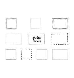 Hand drawn scribble frames vector
