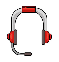 headset communication device icon vector image