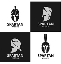 Helmets spartan warriors icon vector