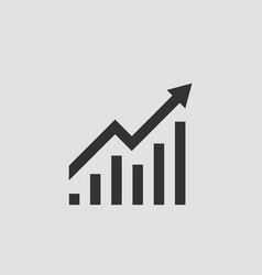 increase profit icon growing bar graph vector image