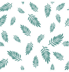 Infinite pattern with leaves vector