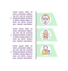 Longevity concept icon with text vector