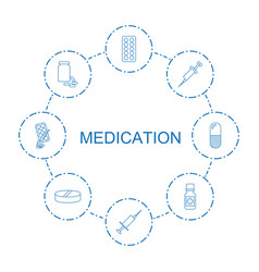 medication icons vector image