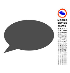 Message cloud icon with set vector