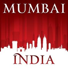 Mumbai India city skyline silhouette vector image