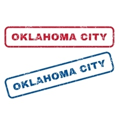Oklahoma City Rubber Stamps vector