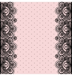 Old lace vintage background vector