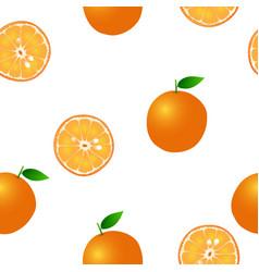orange seamless on white background vector image