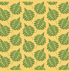 pattern color set decorative of tropical green vector image
