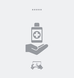 Pharmacy services - web icon vector
